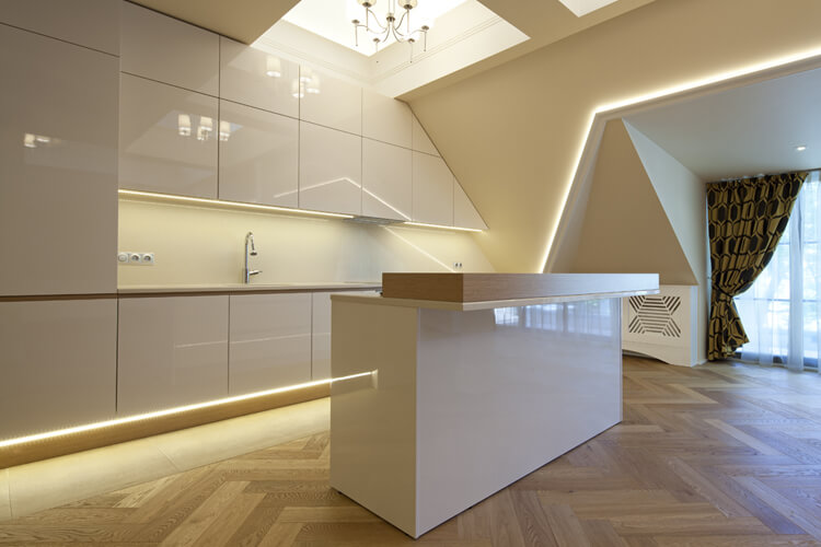LED48 in situe in client kitchen